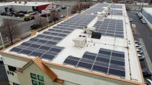 Large Scale Solar Roof, SolarEdge, Batavia, IL, USA