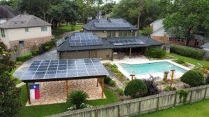 Solar Home and Pergola With Battery Storage, Katy, Texas, USA