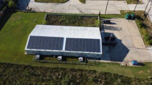 Large Scale Solar Roof, APSystem, Spring, Texas, USA