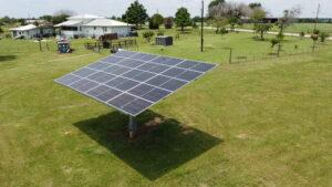 BiFacial Dual-Axis Solar Tracker, McDade, TX, USA