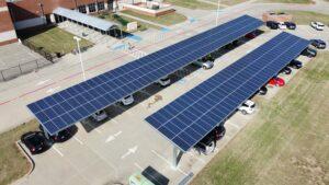 Solar Carport, Pilot Point Intermediate ISD, Pilot Point, Texas, USA
